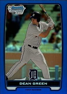 2012 Bowman Chrome Prospects Blue Refractor #BCP52 Dean Green Detroit Tigers Baseball Card SER/250 NM-MT