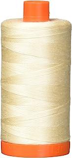 Aurifil A1050-2000 Mako Cotton Thread Solid 50WT 1422Yds Light Sand