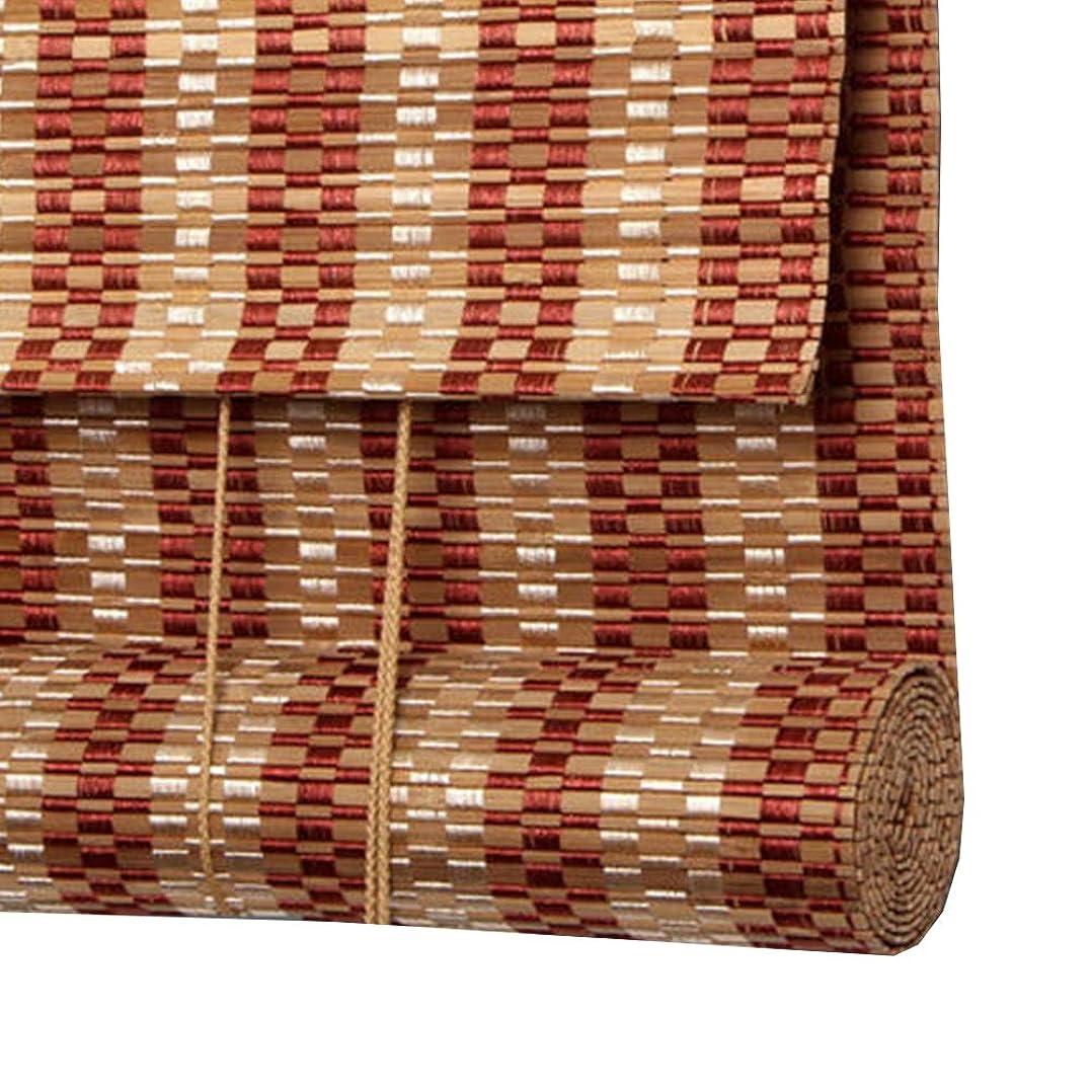 母音なる見てウッドブラインド すだれ 竹カーテン 光透過/日よけ 仕切り 天井/壁への取り付け カスタマイズ可能,E,W90*H200CM