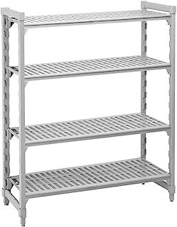 "Cambro Shelving Starter Unit, 54"" x 18"" x 64"", 5 shelves Speckled Gray CPU185464V5-480"