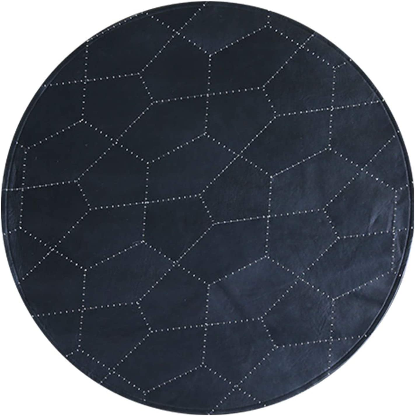 QDY Dark Blue Leather Cheap sale Rugs - Cheap bargain Flo Chair Computer Coffee Table and