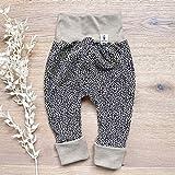 Baby Hose Mädchen - Leopard (Beige Melange) Baby Mädchen Hose, Mitwachshose