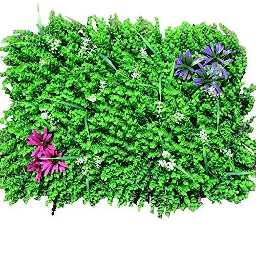 YTHX Künstliche Blume 60X40 cm Kunstrasen Simulationspflanzen Landschaftsbau Wanddekoration Grüne Kunststofftür Shop Bild Hintergrund Gras8