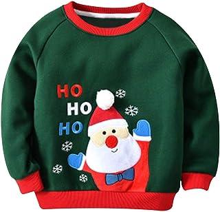 Kinder Weihnachten Rentier Pullover Strick Sweater Weihnachtspullover Nikolaus Jungen M/ädchen