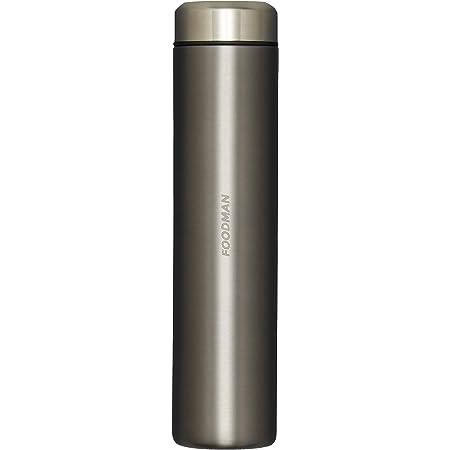 シービージャパン 水筒 ミニ ボトル グレー ステンレス 180ml 直飲み 内面 テフロン 加工 フードマン DSK