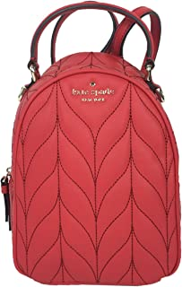 Kate Spade Briar Lane Quilted Leather Convertible Mini Backpack, Hot Chili Red