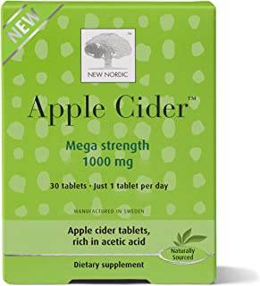 New Nordic Apple Cider Mega Strength Tablets | Wellness Supplement | No Vinegar Taste | Swedish Made, 30 Count
