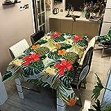 XXDD Mantel Impermeable de Hoja de plátano Mantel Rectangular Cubierta de Mesa de Comedor artículos de Cocina decoración de Fiesta A6 140x160cm