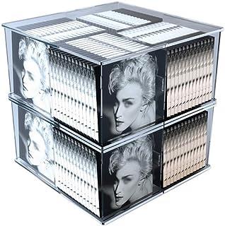 FGDSA Caja De Almacenamiento De CD De Doble Capa, Soporte Giratorio De Exhibición De DVD - Estante De Almacenamiento De CD...