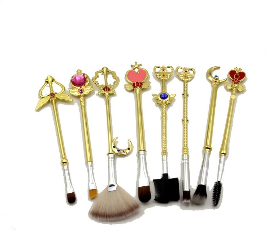 8 Bombing new work pcS Sailor Moon Jewelry Make Brush Pincel Up Gol maquiagem Animer and price revision Set