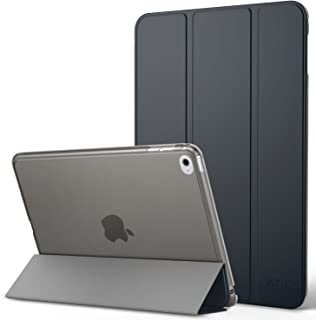 iPad Mini 4 ケース - ATiC Apple iPad Mini 4 (2015) 7.9 インチ iOS タブレット専用 半透明PC製 開閉式三つ折薄型スタンドケース Space GRAY (オートスリープ機能付き) (iPad ...