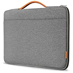Special side-zipper design makes your laptop far from being dropped accidentally; Big side pocket can store enough accessories such as your phone, iPad, mouse, power charger, etc With five layers of eco-friendly materials, this case is durable agains...