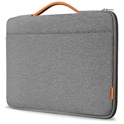 "Inateck 13-13.3 Inch Laptop Sleeve Case Briefcase Cover Protective Bag Ultrabook Netbook Carrying Handbag Compatible with 13"" MacBook Air/MacBook Pro(Retina) 2012-2015, 2020/2019/2018/2017/2016, Gray"