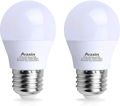 LED Refrigerator Light Bulb 4W 40Watt Equivalent, Acaxin Waterproof Frigidaire Freezer LED Light Bulb IP54, 120V E26 ...
