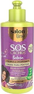 Linha Tratamento (SOS Cachos) Salon Line - Creme Para Pentear Crespos A Muito Crespos 300 Ml - (Salon Line Treatment (SOS Curls) Collection - Curly To Extra Curly Combing Cream 10.14 Fl Oz)