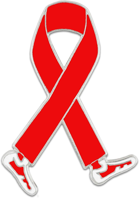 Walk Red Ribbon Photo Pin