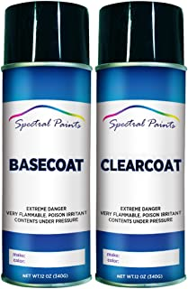 Spectral Paints Compatible/Replacement for Chrysler PFQ F8 Green Metallic 12 oz. Aerosol Spray Paint and Clear Coat