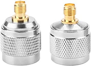 2 Pieces RF Plug Coaxial Adapter N Male to SMA Female Test Converter 0-6GHz Frequency Copper Gold Plated