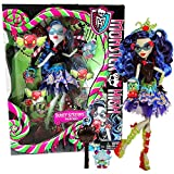 MH Year 2014 Monster High Sweet Screams Series 11 Inch Doll Set - GHOULIA YELPS with Purse, Candy Pet Owl, Hairbrush and Display Stand