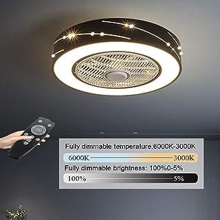 Ventilador De Luz De Techo Creativo Moderno De Luz De Techo LED Ventilador De Techo Regulable Con Iluminación Y Control Remoto Silencioso Habitación De Los Niños Dormitorio Sala De Estar Iluminación