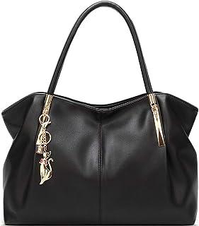 TEBIEAI Damen Umhängetaschen Frau Handtaschen Lack PU-Leder Elegant Tote Schultertaschen TEDE84093