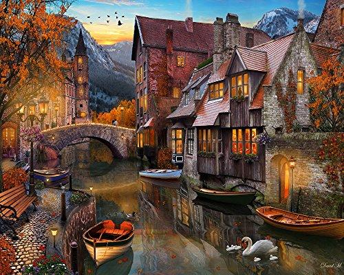 Autumn Canal Jigsaw Puzzle 1000 Piece