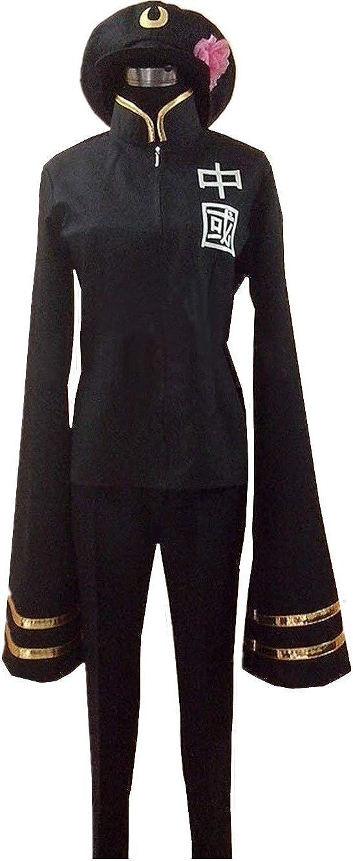 LVCOS Axis Powers Hetalia Year-end gift China Albuquerque Mall Female Military Uniform Cosplay