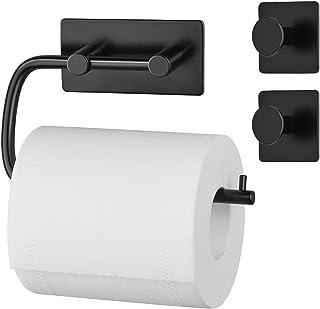Umi. by Amazon - Set de portarrollos para papel higiénico y 2 ganchos multiuso de acero inoxidable 304 para baño y cocina...
