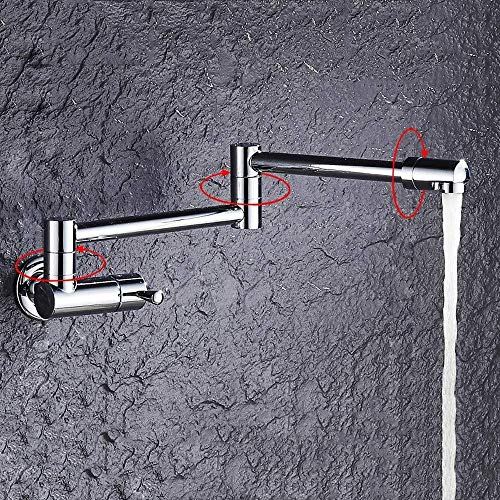Faucet Faucet All Bronze Fold Alargue el trapeador Grifo de la piscina En la pared Balcón frío individual Lavandería Trapeador de la piscina Piscina Cocina Lavabo de agua Grifos de cabeza de dragón D