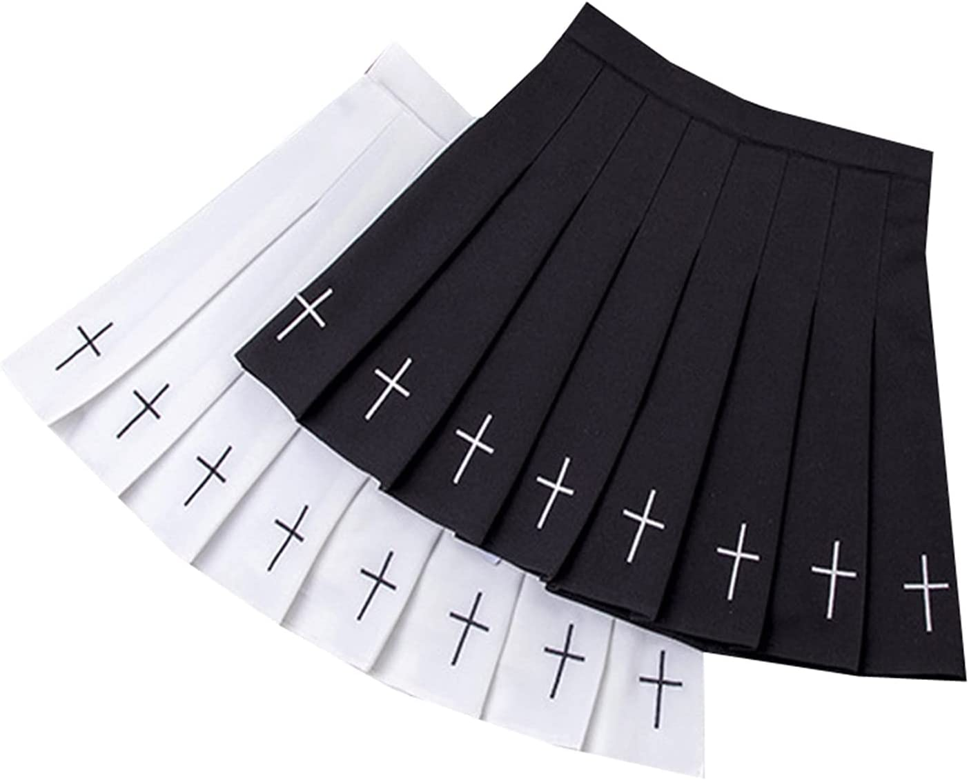 LSXLSD Fashion Women Pleated Skirt High Waist Woman Mini Skirts Summer Harajuku Female Short Skirts Casual A-Line Ladies Dance Skirt (Color : Black5, Size : XX-Large)
