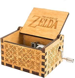 MINSOTO Caja de música de Madera Tallada a Mano, diseño de la Leyenda de Zelda (Madera)