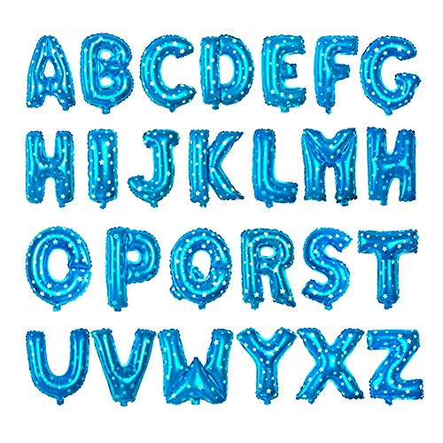 Wakerda - Globos de Aluminio, 26 Unidades, diseño de Letras inglesas de Colores sólidos,, Boda, Fiesta, decoración de Fiestas