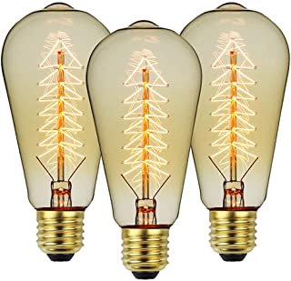 Wall Mounted E27 Edison Screw Bulb, 40W 220V Vintage Light Antique Style Light Bulb Classic Lamp, Decorative Bulbs for Bed...