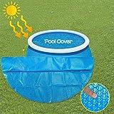 MTUPOC Protector Solar Redondo para Piscina, 8/10/12 / 15ft Marco de plástico de Burbujas Piscina Cubierta Redonda para Piscina, Cubierta a Prueba de Lluvia (12FT)