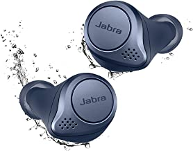 Jabra Elite Active 75t Navy Voice Assistant Enabled True Wireless Sports Earbuds with Charging Case (Renewed)