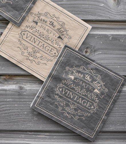 Dragée d'amour 20 Serviettes en Papier Déco Vintage