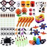 FEPITO 15 Style Halloween Party Bag Fillers Assortment 223 Pack Halloween Dolcetto o Scherzetto Accessori con Ragni Falsi, battaglio a Mano Timbri Dentiere Dito del Diavolo per Halloween