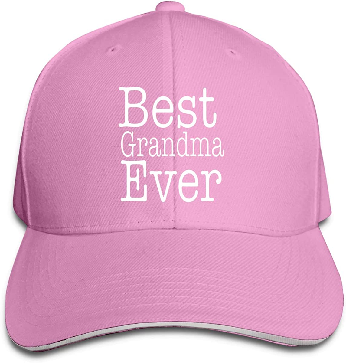 Best Grandma Ever Men and Women Adjustable Sandwich Peaked Baseball Cap