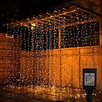 Pop-Belief 300-LED Window Curtain String Light