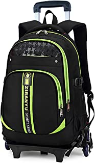 Meetbelify Trolley School Bags Backpack for Boys with Six Wheels Climbing Stairs