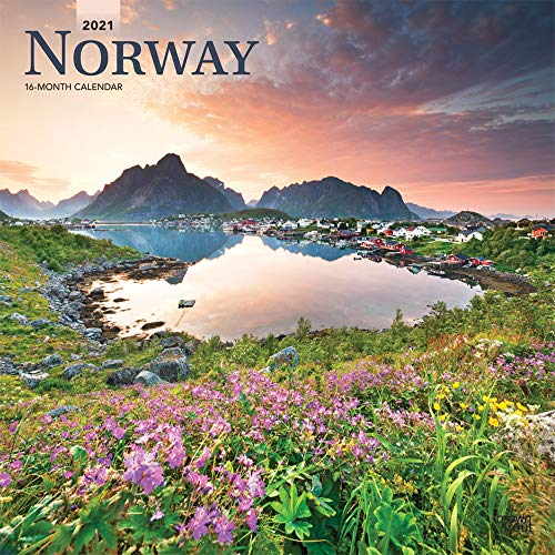Norway 2021 12 x 12 Inch Monthly Square Wall Calendar, Travel Europe Scandinavian