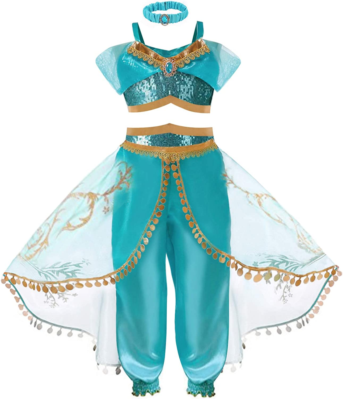 Girls Princess Max 59% OFF Popular brand Costume Dress - Halloween Cosplay Arabian T Party