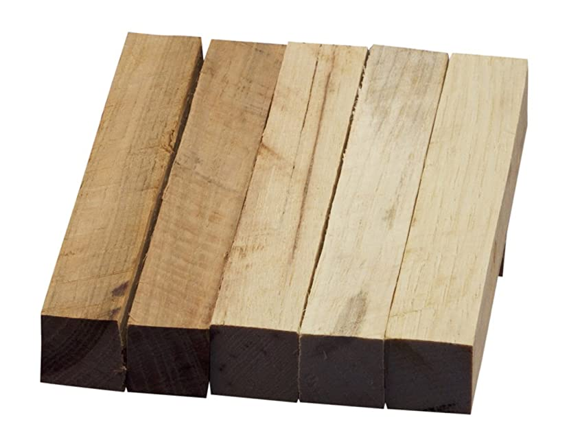 Hickory Wood Turning Pen Blanks | Wood Pen Blanks 5 Pack | 3/4