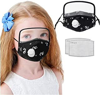 WIWN Kids Face 𝓂𝒶𝓈𝓀 Cartoon Fawn Washable Reusable Face Maks with Filter Detachable Eye Shields, Dustproof and Breathable
