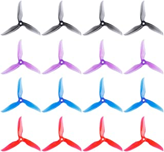 DALPROP Cyclone T5040C 5 Inch 3-Blade Propeller 16pcs (8CW/8CCW) for FPV Freestyle Drone Quadcopter 4 Colors Mega-Pack