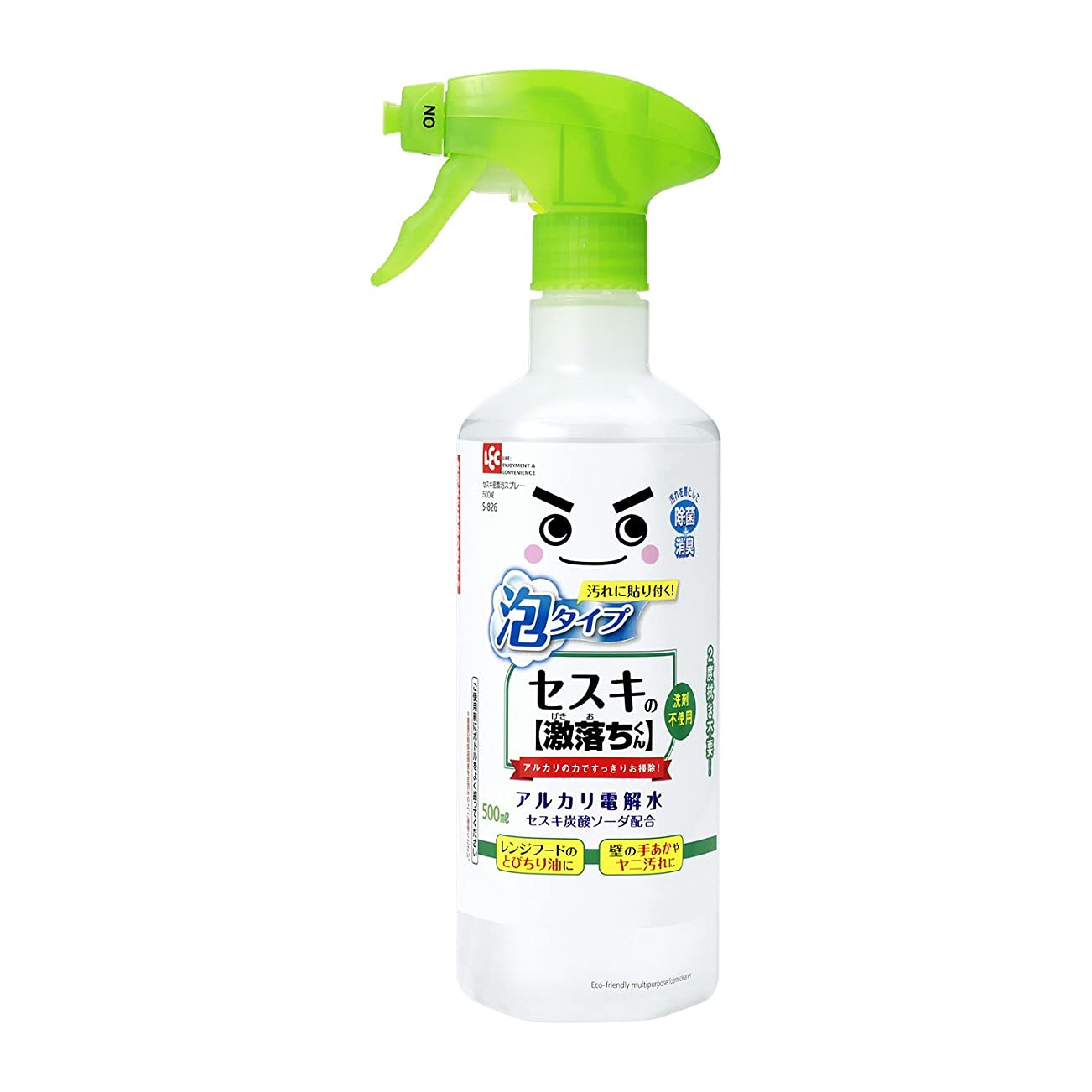 難しい局ヤギセスキの激落ちくん 密着泡スプレー 洗剤 500ml ( アルカリ電解水 + セスキ炭酸ソーダ )