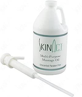 Skin Act Multi-Purpose Massage Oil Half Gallon Unscented Paraben Free