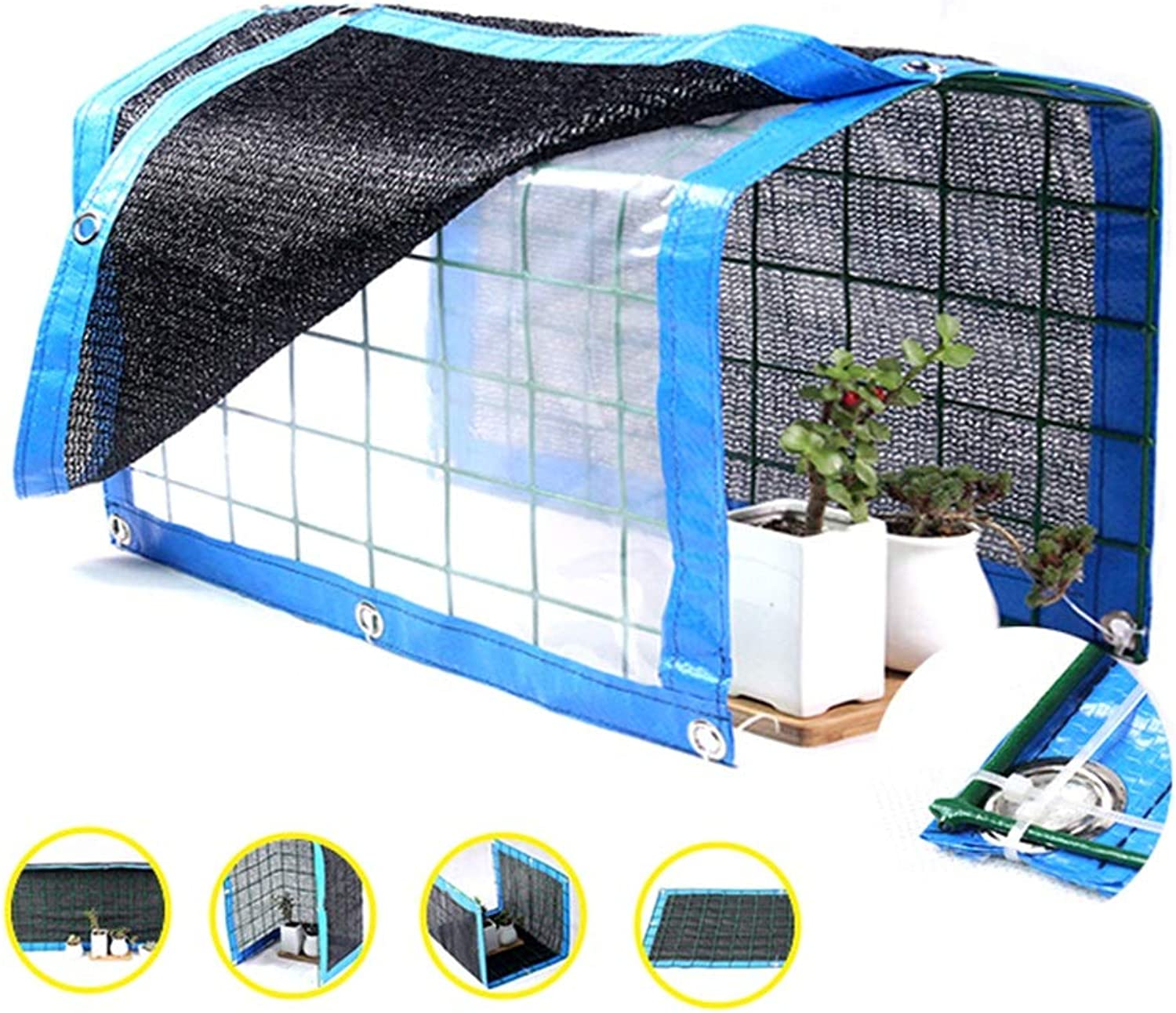 GAOFENG Succulent Plants Awning Rainproof Shed Insulation Shading Net Sunscreen Balcony Flower Stand