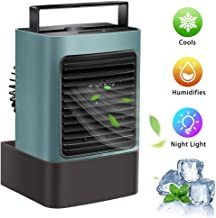 OVPPH Portable Air Conditioner Fan, Personal Air Cooler Desk Fan Mini Space Evaporative..