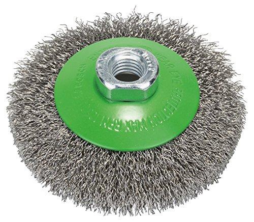 Bosch Professional Kegelbürste, gewellter Draht, rostfrei, 0,35 mm, 100 mm, 12500 U/min, M 14, 2608622108